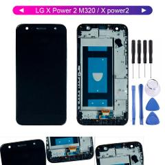 Free Tools For LG X Power 2 M320 Lcd LG X power2  LCD Display With Touch Screen Digitizer Frame Assembly