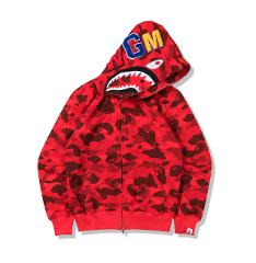A Bathing Ape BAPE Men's Shark Jaw Loose Zip Hoodie Lovers Thin section Jacket