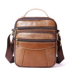 WESTAL Men's shoulder bag men's leather bag for men messenger bags flap zipper designer male solid crossbody handbags drop ship
