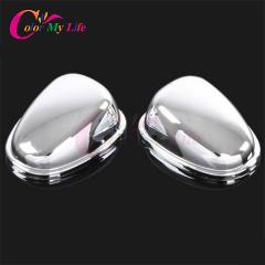 Color My Life Chrome Car Water Spray Wiper Nozzle Cover Decorative Sequins Sticker for Peugeot 208 2008 2014 2015 2016 2017
