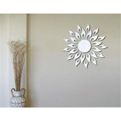 New arrival 3D Sun Pattern Mirror Surface Wall Sticker  Living Room Bedroom Bathroom Home Decor Decoration Poster Picture