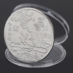 1pc Gold/Silver 2020 Year of the Rat Commemorative Coin Chinese Zodiac Souvenir Challenge Coin