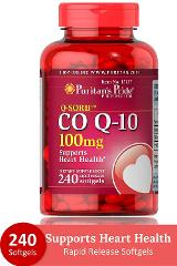 Puritaner Pride Q Sorb CO Q-10 100mg 240 Rapid Freigabe Softgel