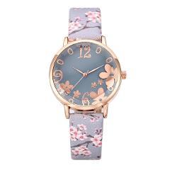 Luxury Brand Fashion Women Watches relogio feminino Embossed Flowers Small Fresh Printed Belt Student Quartz Watch 2020 Gift