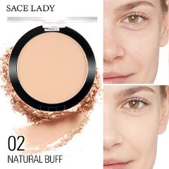 SACE LADY Matte Foundation Powder Makeup Pressed Translucent Natural Make Up Long Lasting Oil-control Compact Cosmetic TSLM1