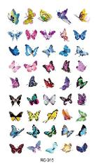 RC2315 2018 Waterproof Temporary Tattoo Stickers Glitter Colorful Butterfly Fake Tattoo Water Transfer Tattoo Taty Body Art