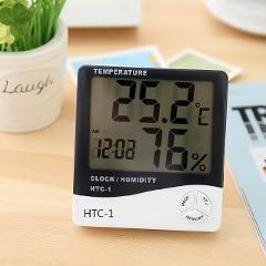 Urijk LCD Digital Temperature Humidity Meter HTC-1 HTC-2 Home Indoor Outdoor hygrometer thermometer Weather Station with Clock