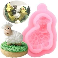 Cute Lamb Silicone Molds Candy Fondant Mould DIY Baby Birthday Cake Decorating Tools Handmade Soap Chocolate Gumpaste Moulds