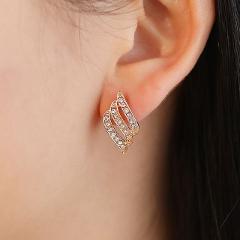 Fashion Dangle Earrings  Female  Drop Earrings Crystal Trendy Jewelry Gold Silver Hanging Earring For Girls Wedding Gift