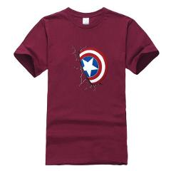 Men T shirt Summer Clothes Captain America Tops Cotton Shield Printed T-shirts For Boy Cartoon Tops Tees Brand Clothing XS-XXL