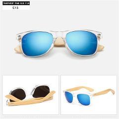 YOOSKE Bamboo Sunglasses for Men Women Travel Goggles Sun Glasses  Vintage Wooden Leg Eyeglasses Fashion Brand Design