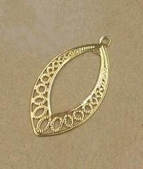 BASEHOME 20pcs 20*37MM Hollow Leaf Charms Wholesale Brass Material DIY Jewelry Vintage Pendant Charms