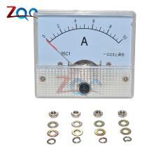DC 0-10A GB/T7676-98 Analog Panel AMP Current Meter Meters Ammeter Gauge 85C1 White