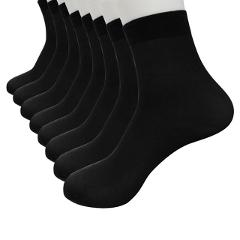 8 Pairs Bamboo Fiber Ultra-thin Elastic Silky Short Silk high quality Men Socks Comfortable skarpetki  2019 new