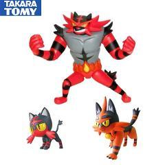 TAKARA TOMY Pokemon Action Figures Incineroar Anime Figure Model Toy Gift for Kids