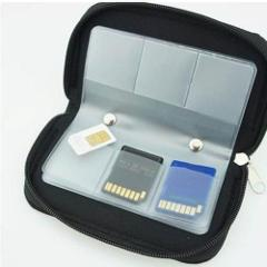 Bags Zipper Up Card Holder Storage For CF/SD/SDHC/MS/DS Case Box Carrying Pouch Memory Black Card Wallet