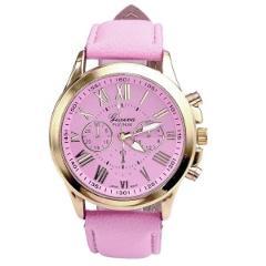 2018 Geneva Top Brand Watches Women Casual Roman Numeral Watch For Men Women PU Leather Band Quartz Wrist Watch relogio Clock