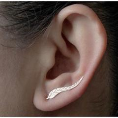 2018 Vintage Jewelry Exquisite Plated Earrings Modern Beautiful Feather Earrings Female