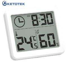 Digital Thermometer Hygrometer Indoor Room Electronic LCD Temperature Humidity Meter Weather Station Clock -10~70C 10% - 99%RH