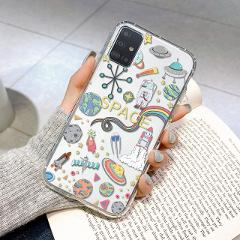 Leopard Planet Cover For Samsung Galaxy S21 S20 FE Plus Ultra A32 A52 A72 A50 A51 A71 4G 5G Case A 32 52 Coque Protect Shell Bag