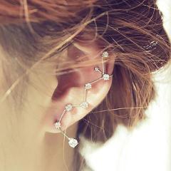 1 PC New Fashion Tassel Earrings For Women Golden Color Crystal Star Drop Earrings Punk Style Personallized Statement Jewelry
