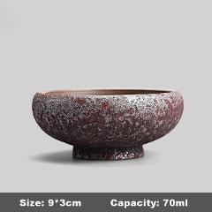 100ml Japanese Style Vintage Coarse Pottery Rust Glaze Tea Cup Tea Bowl Ceramics Kung Fu Tea Set Master Cup Creative Home Decor