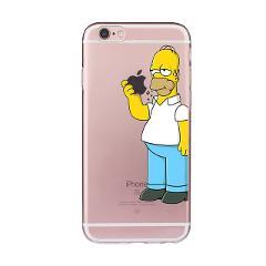 Homer Simpson TPU Soft Case for iPhone 5 5S SE 5C 6 6S Plus 7 8 Plus X XS XR XSMAX Funny Fundas Silicon Transparent Coque