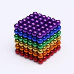 2020 3mm 216pcs/set With blocks New Metaballs Neodymium Magnetic balls Sphere Neo Cube Puzzle magnet beads building toys