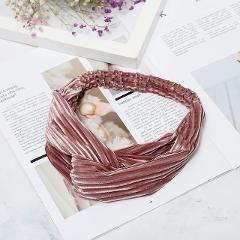 1PC New Fashion Velvet Wide Cross Knot Headbands For Women Elastic Hair Bands For Girls Hairband Bandanas Hair Accessories