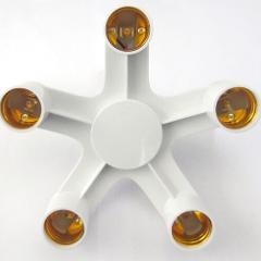 new 1 to 5 Light Adapter Converters Holder E27 to E27 Socket Splitter LED Lighting Lamp Split Adapter Bulb Holders Base