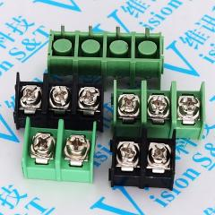 10PCS/lot 7.62mm KF7.62-2P 3P 4P MG762-2 3 4 Pin Can be spliced Screw Terminal Block Connector Black Green 7.62mm Pitch