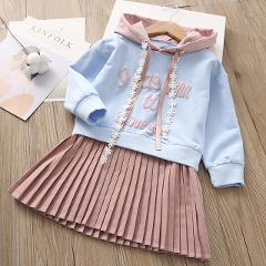 Bear Leader Girls Dress 2020 New Spring Casual Ruffles A-Line Striped Full Sleeve Kids Dress For 3T-7T