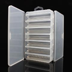 Double Side 14 Compartments Fishing Lure Box for Minnow Shrimp Bait Metal Spoon Lures Storage Case Container Fishing Tackle Box