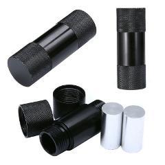 Black Aluminum 5cm Pollen Press Herb Tobacco Compressor Works With Herb Grinder
