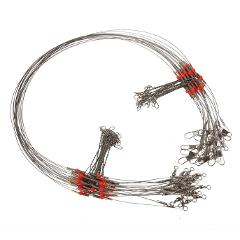 10pcs/lot Fishing Wire Line Leash Lure Fishhook Line Trace Wire Leader Swivel Snap Spinner Shark Spinning Expert 3.0#