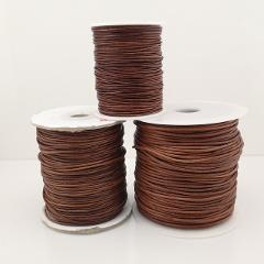 1.0mm 1.5mm 2.0mm 2.5mm 3.0mm Natural Black Brown Round Genuine Leather Cord - 3m each piece