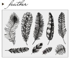 Feather / Transparent Clear Silicone Stamp/Seal for DIY scrapbooking/photo album Decorative clear stamp  A0339