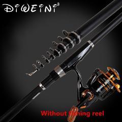 Superhard Portable 2.4m 3.0m 3.6m 4.5m 5.4m 6.3m 7.2m Carbon Telescopic Fishing Rod Sea Rods Fishing Rod Spinning Fishing Pole