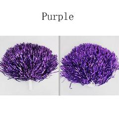 2X Cheerleading pompoms Waver Fancy Dress Costume Handle Ring Pom Pom Dance Accessory Unique Party Props Decorations