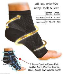 1 Pair Women Ankle Heels Support Men Compression Foot Angel Sleeve Heel Arch Support Pain Relief 2PCS