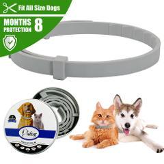 New Pet Dog Collar Anti Flea Ticks Mosquitoes Outdoor Adjustable Pet Collar Dog Accessories 8 Months Long-term Protection