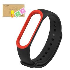 Original Mijobs Dual Color Strap For Xiaomi Mi Band 3 Straps Colorful Straps Belt Silicone Colorful Wristband For Mi Band 3