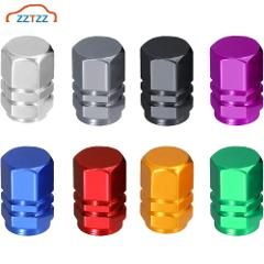 ZZTZZ 4pcs/lot Bike Motorcycle Car Tires Wheel Valve Cap Dust Cover Car Styling for Universal Cars Motorcycle Decorative