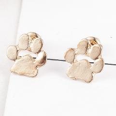 Cute Cat and Dog Pow Stud Earrings Ear Jewelry Earrings For Women Fashion Statement Jewelry Gifts Free drop shipping 1 pair