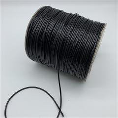 0.5mm 0.8mm 1mm 1.5mm 2mm Black Waxed Cotton Cord Waxed Thread Cord String Strap Necklace Rope For Jewelry Making