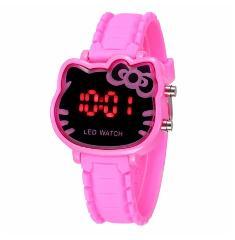Children Cartoon Watch Cute Hello Kitty Shape Kids LED Digital Pink Electronic Watches Fashion Silicone Sport Clock Reloj