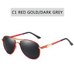 ZXRCYYL Luxury Brand  Polarized Sunglasses Men Women Gradient Lens Alloy metal frame Round Sun glasses Pilot Driving