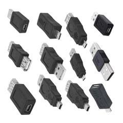 12pcs OTG USB 2.0 A Stecker Auf Buchse Micro B Mini B Adapter USB Gadgets