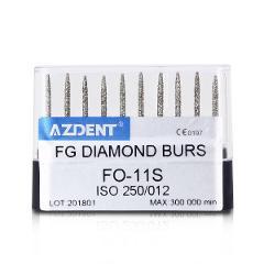 DE 15 Types to Choose 1 Box Dental High Speed Diamond Burs 10Pc/Box