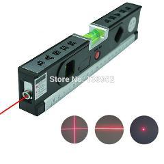 5 In 1 Blister Laser Levels Horizon Vertical Measuring Tape Aligner Laser Marking Lines Ruler Tool